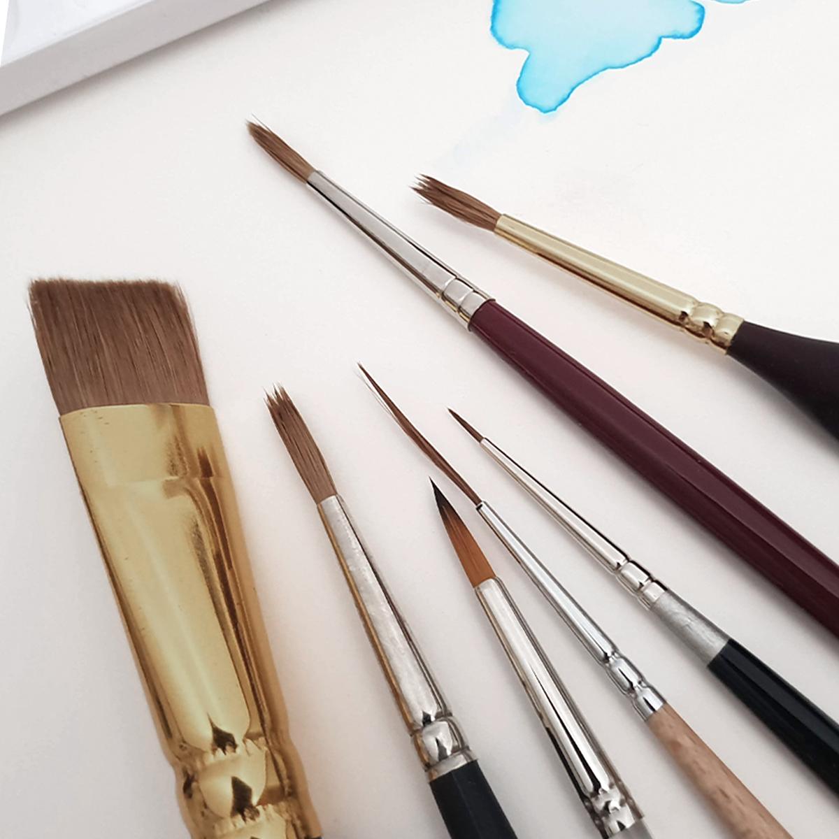 Akvarel pensler