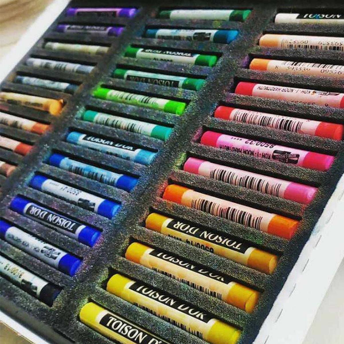 Softpastel, løse farver