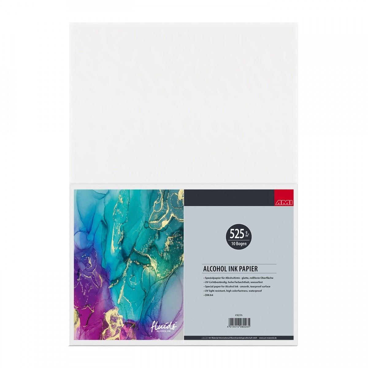 Octopus Fluids, alcohol ink papir, 525 g, 10 løse ark