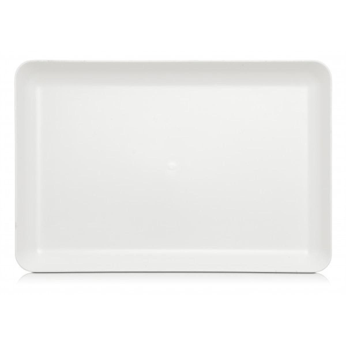 Palette, hvid kunststof, 30,5 x 20 cm., special overflade