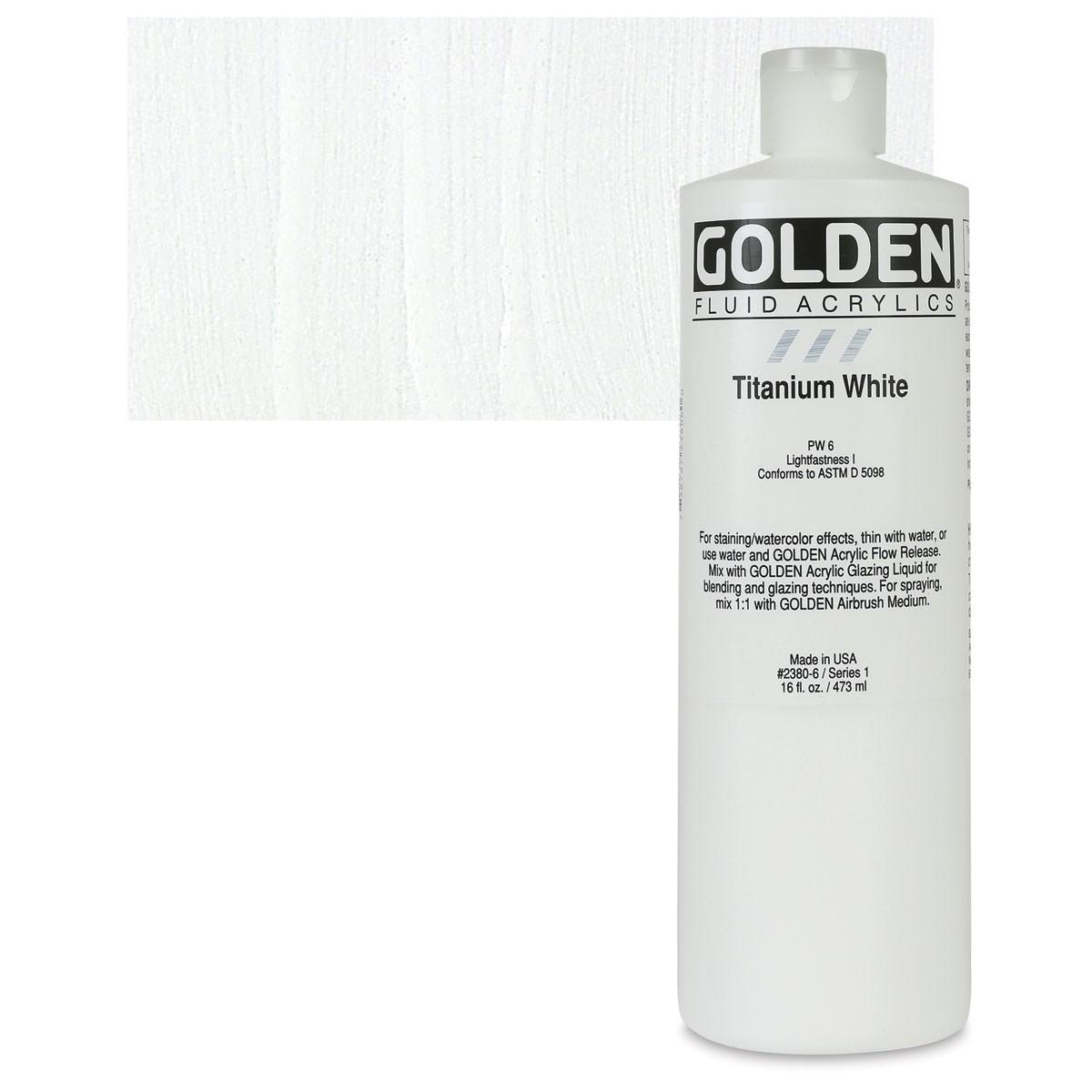 GOLDEN Fluid 473ml. Titanium white