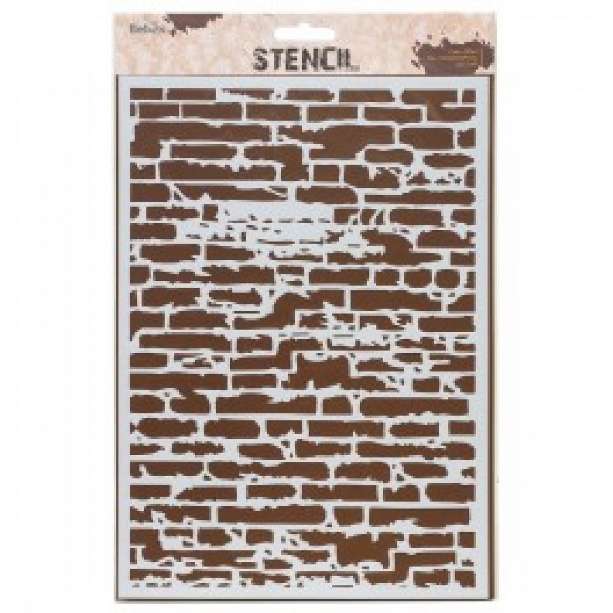 """Stencil, 21 x 30 cm. """"Brick wall"""""""