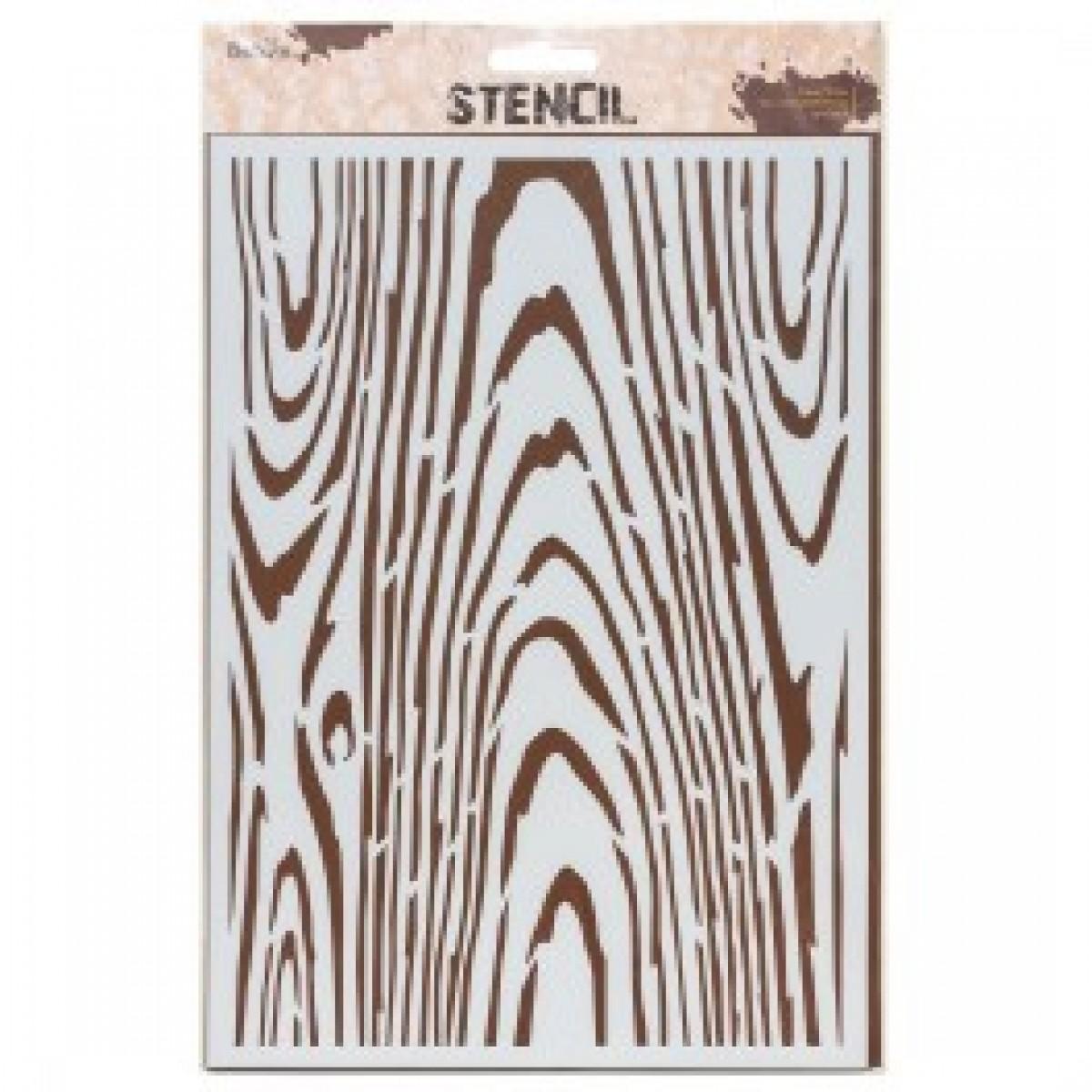 "Stencil, 21 x 30 cm. ""Wood"""