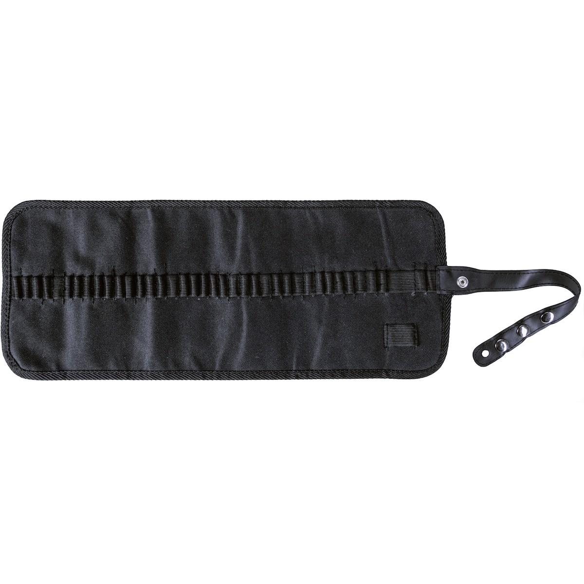 Penalhus, sort, 49x20 cm, fleksibel