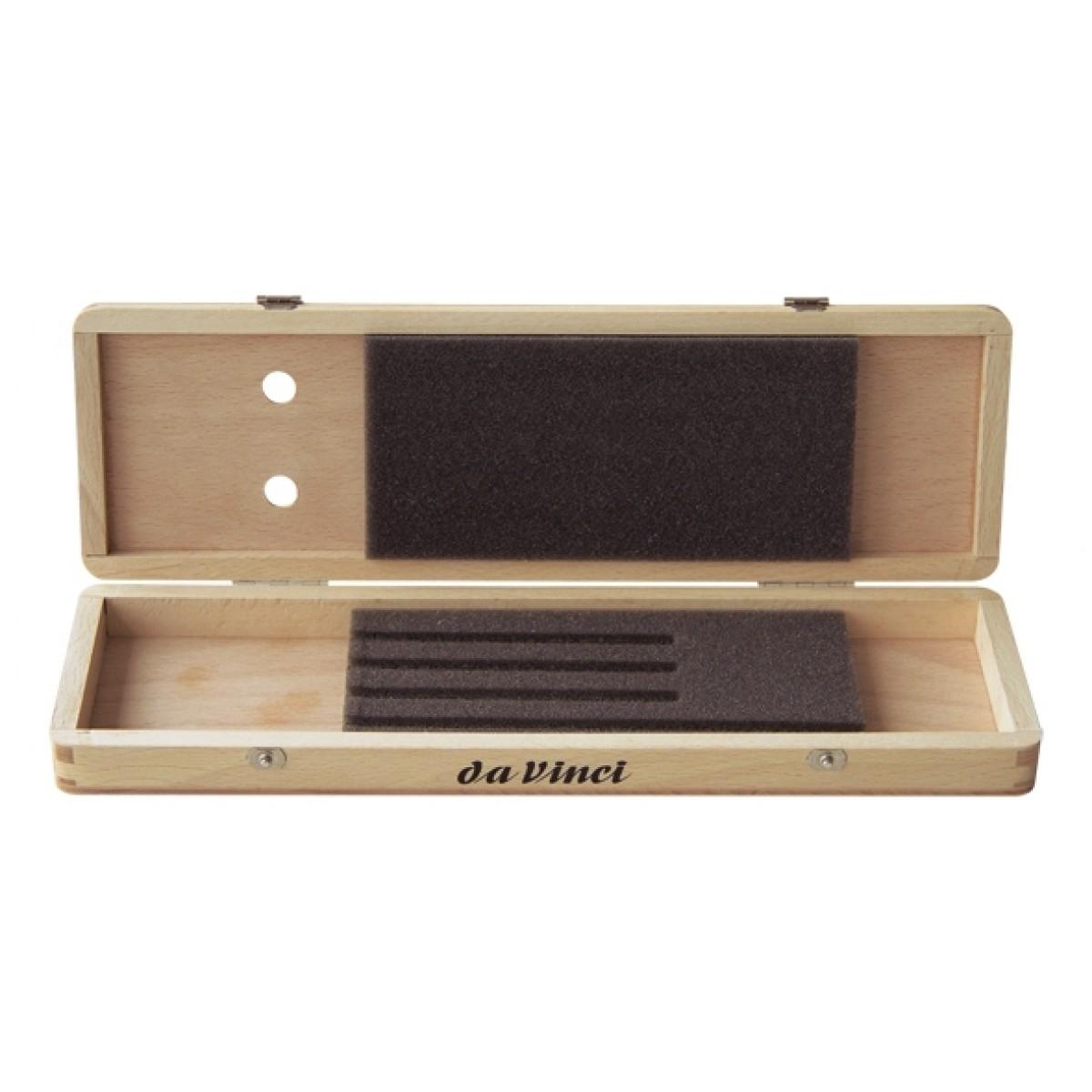 Pensel box i lakeret bøgetræ