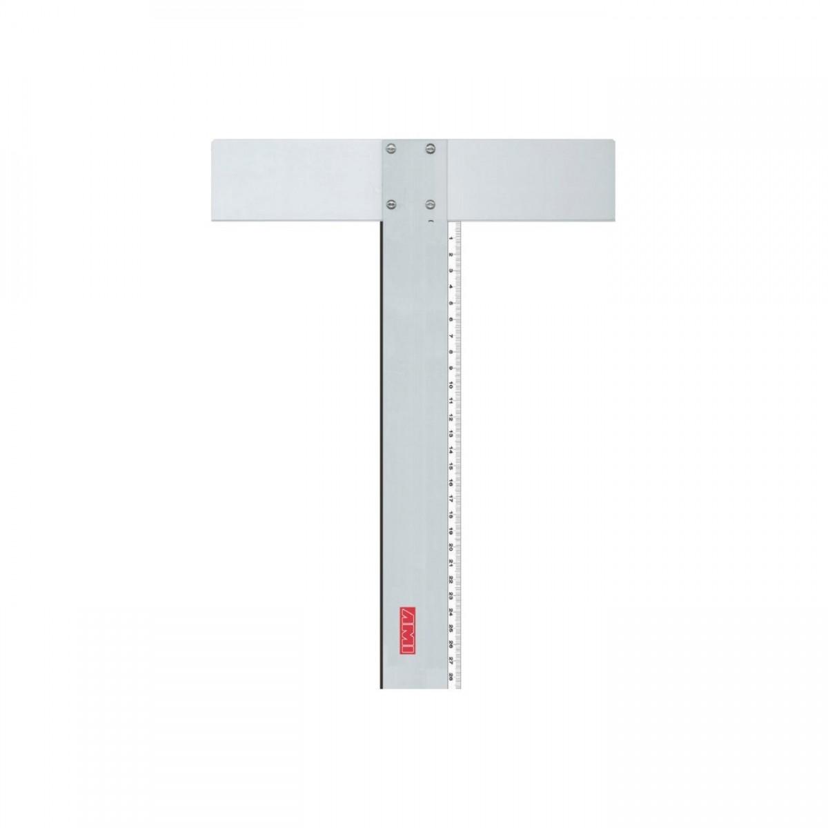 T-lineal, metal og plast, 70 cm