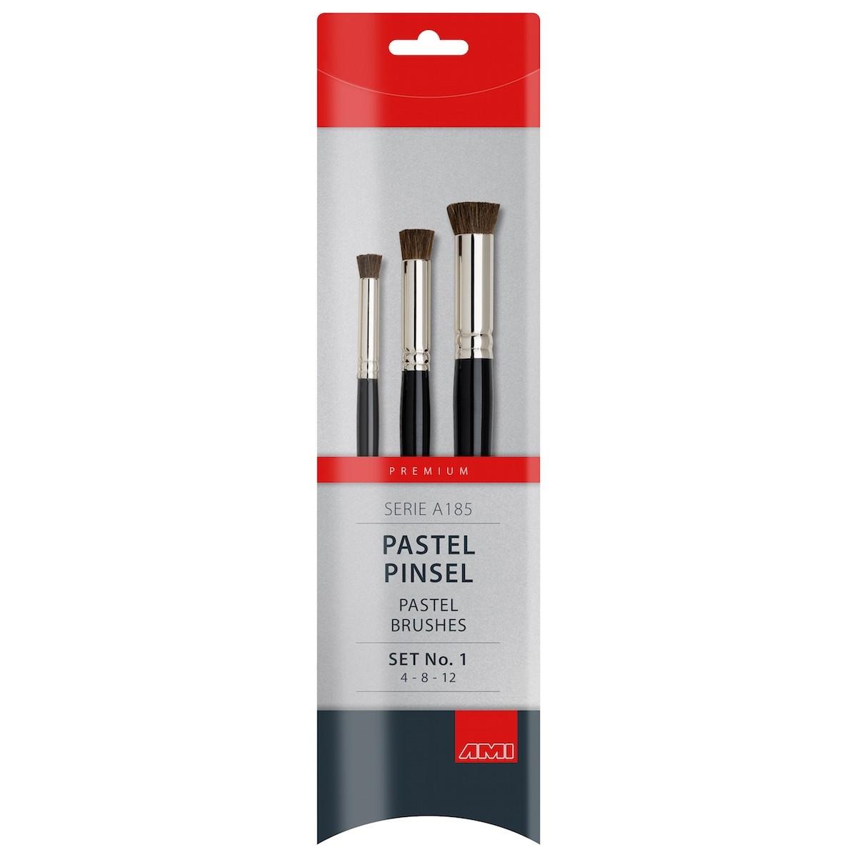 Pastel pensel, hestehår, sæt, A185