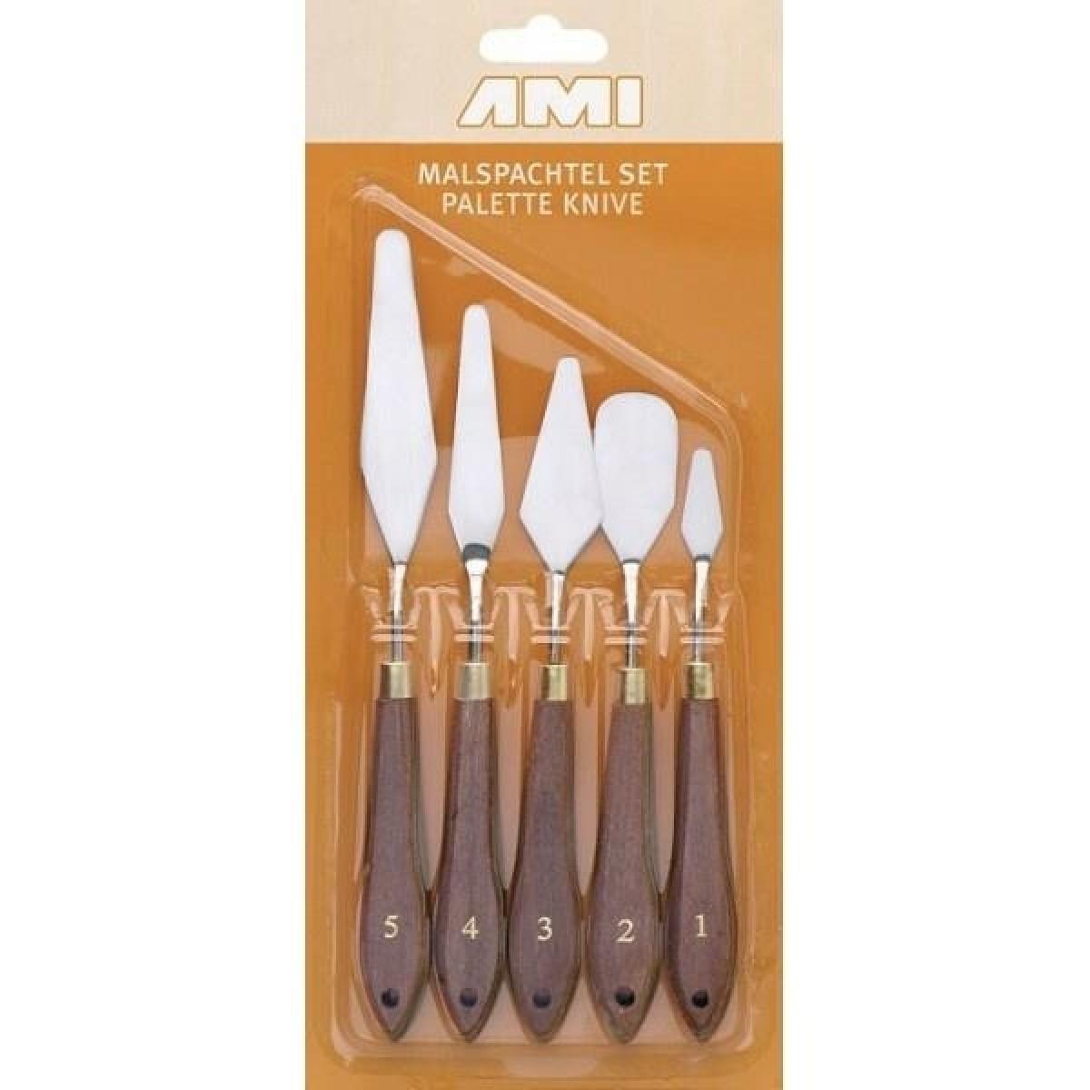 Paletknive sæt, 5 stk. no. 1 - 5