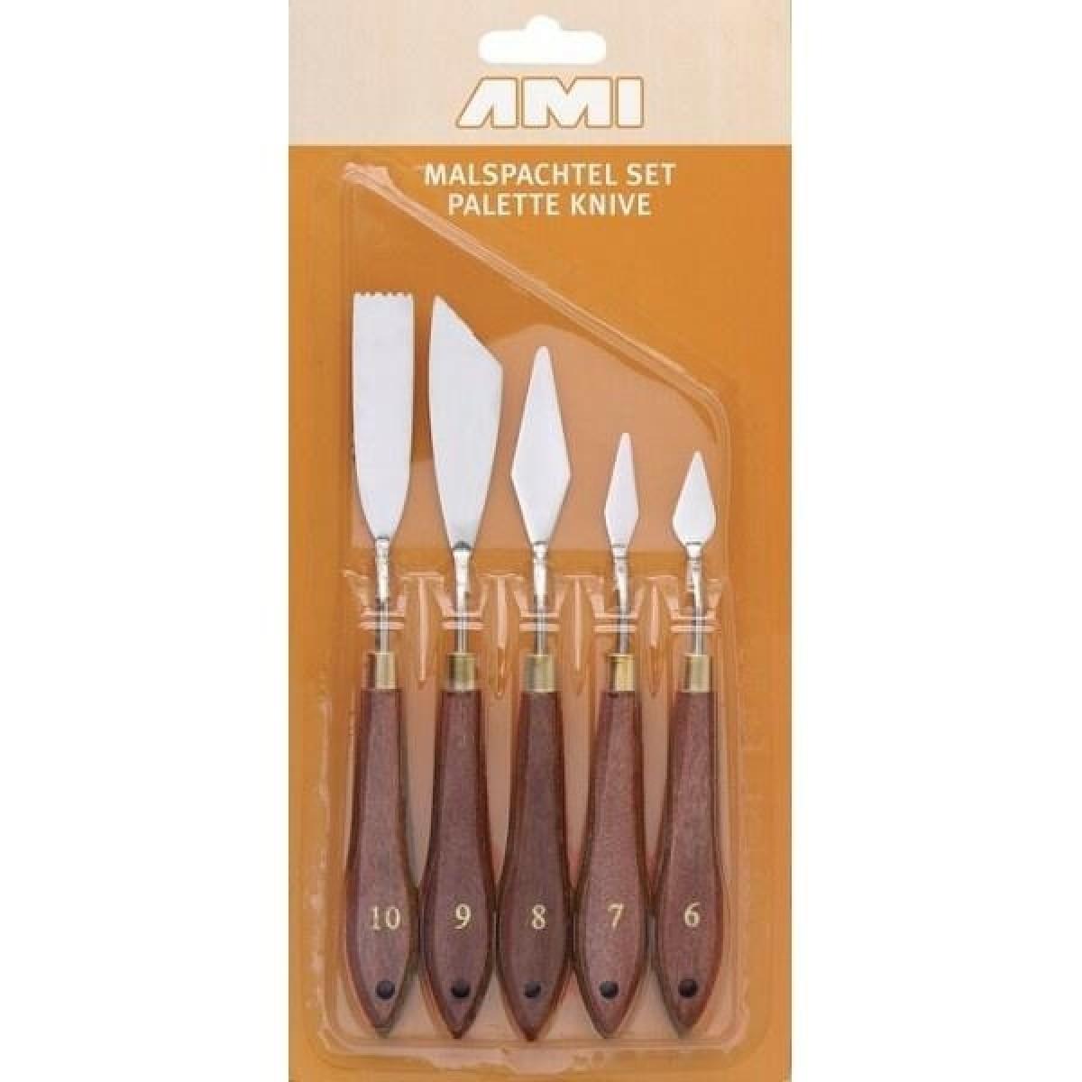 Paletknive sæt, 5 stk. no. 6 -10
