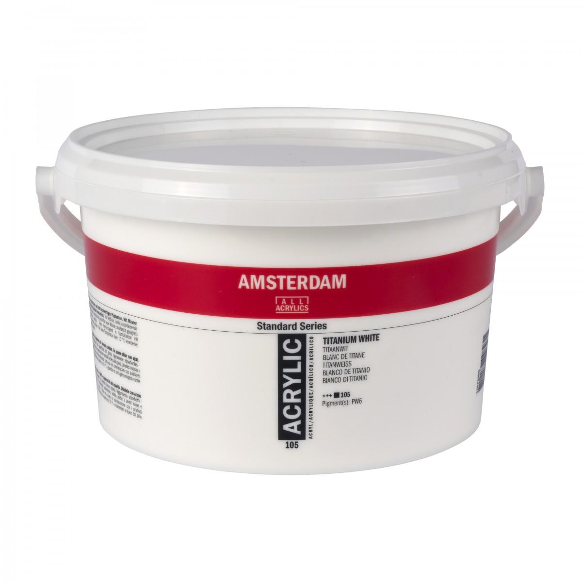 Amsterdam akrylmaling, Titanium white, 2500 ml.