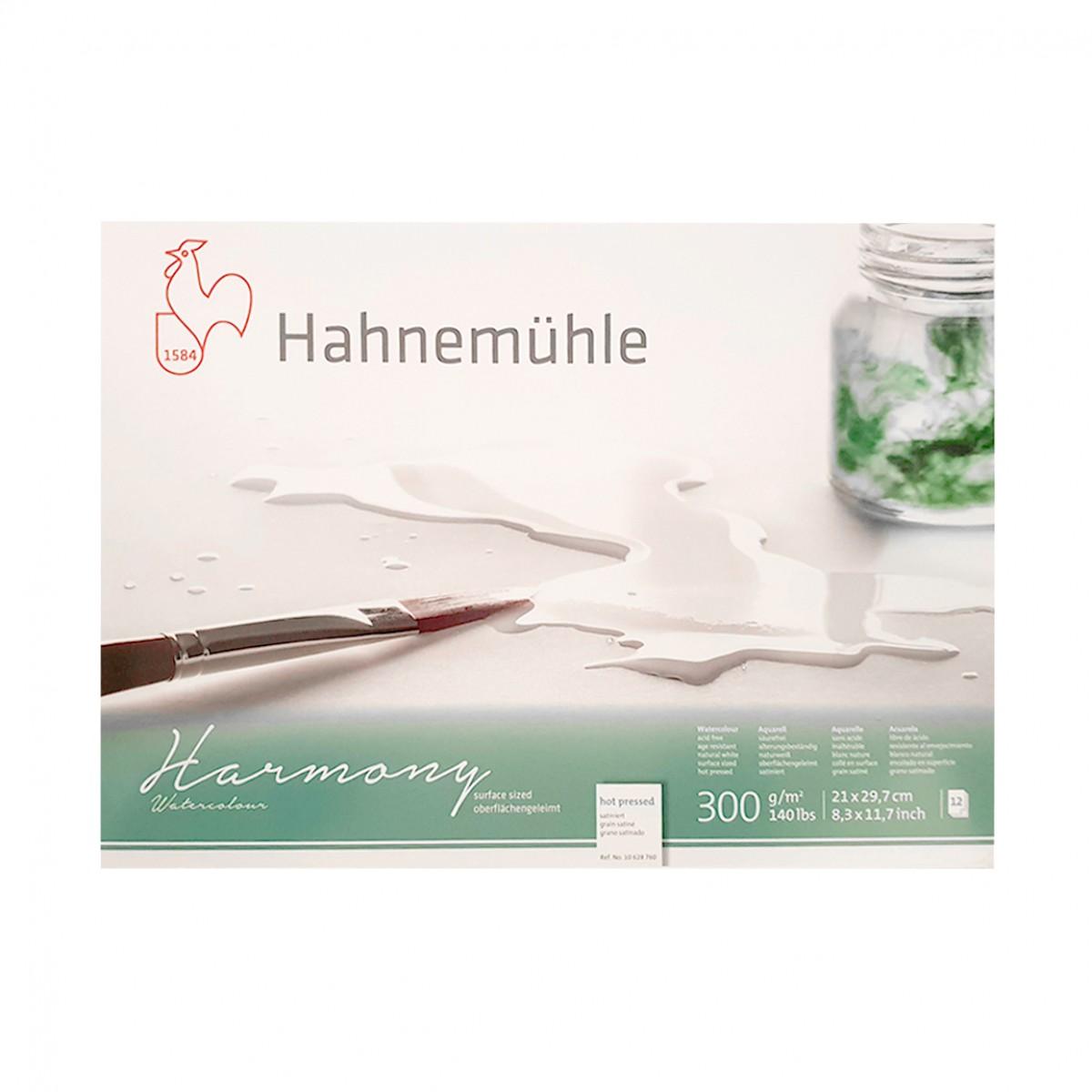 Hahnemühle Harmony Akvarel blok, Hot pressed, A4, 300gr.