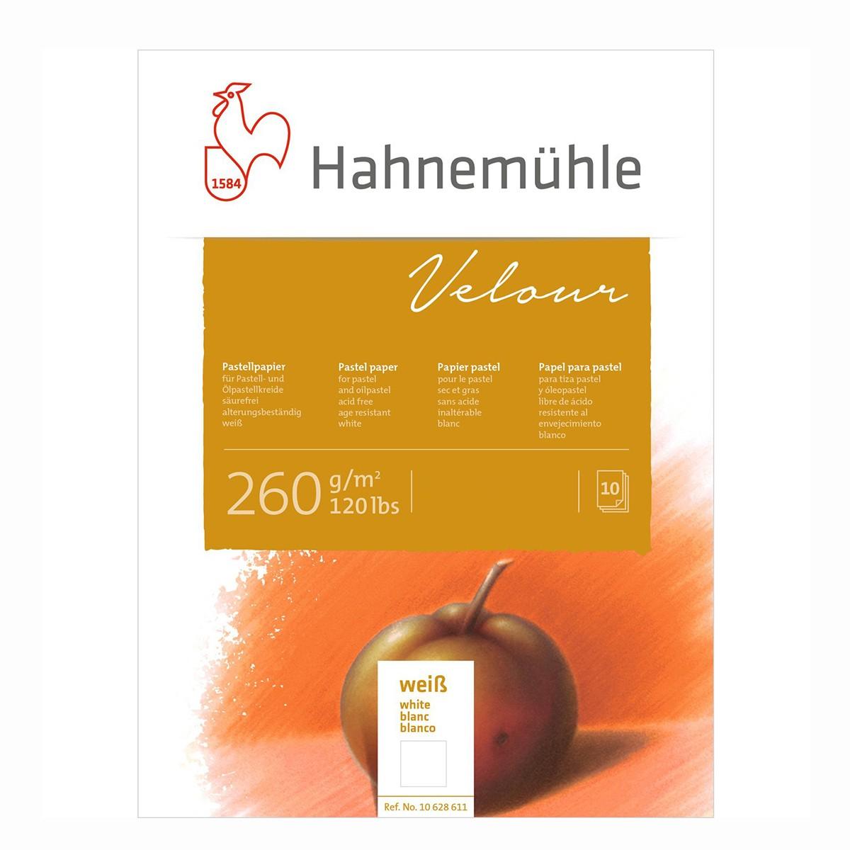 Hahnemühle Velour blok, 30x40cm. hvidt, 10 ark, 260gr.