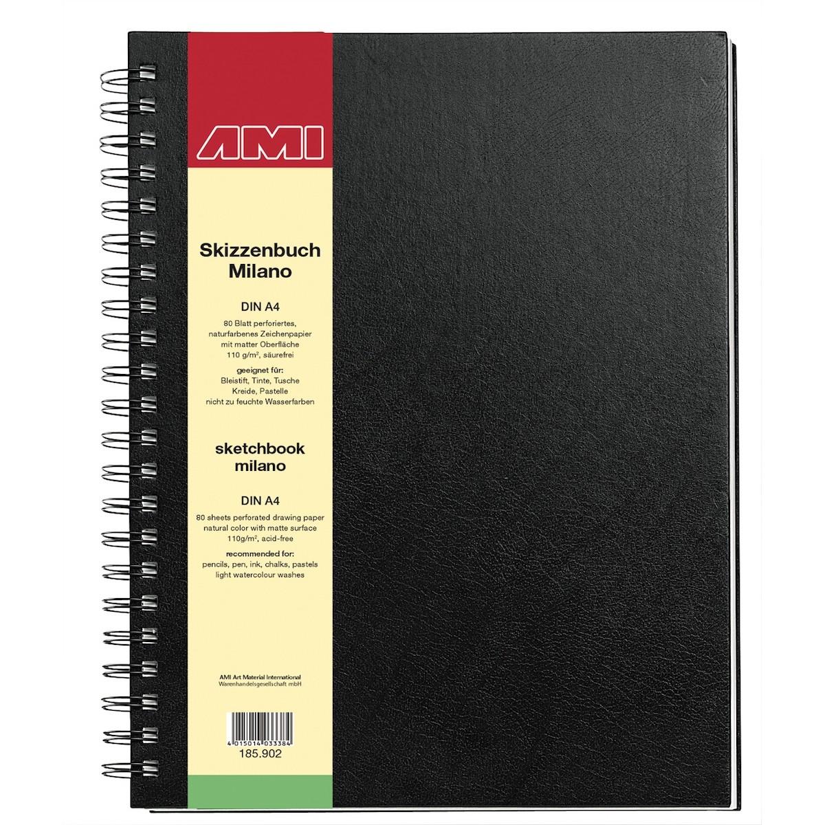 Artbook, Milano, skitsepapir, bog, 110 g.
