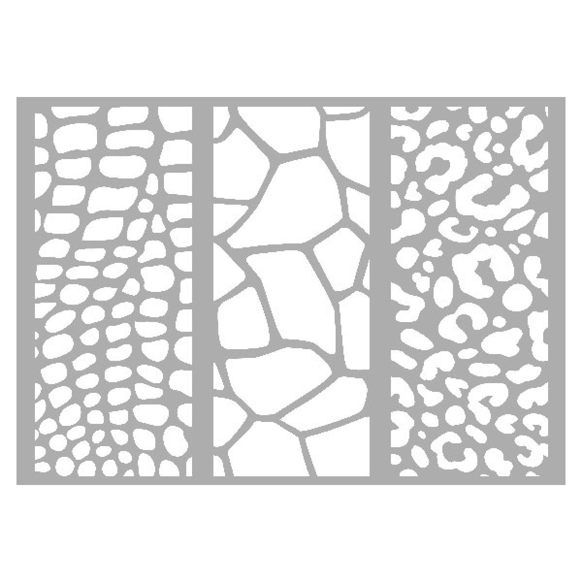 Marabu stencil, A4, Animal Print Combination