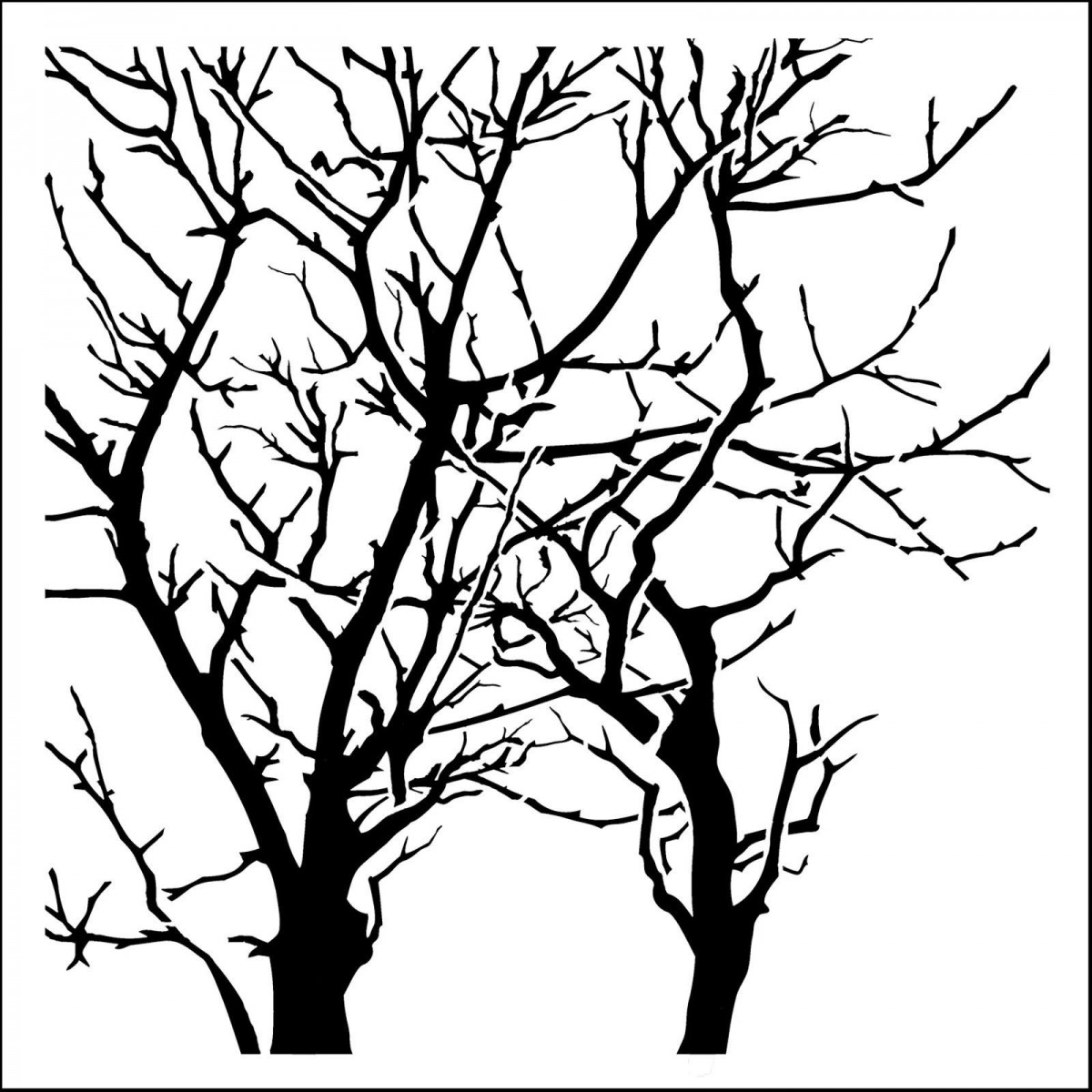 TCW, Stencil, 30x30, Branches Reversed