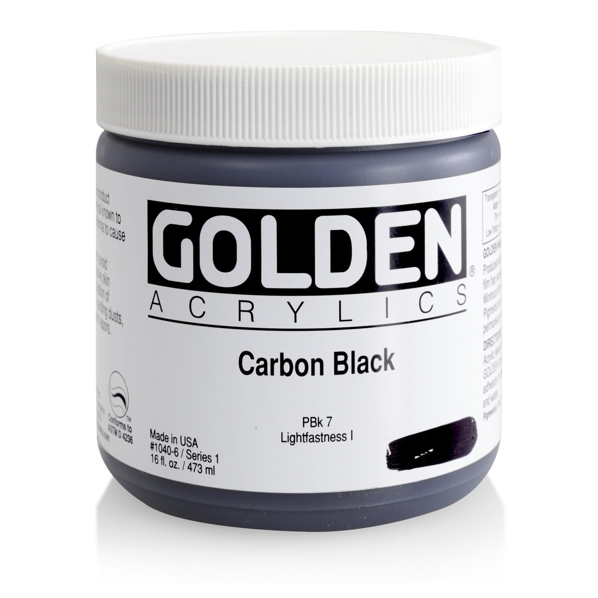 GOLDEN Heavy Body 473 ml. Carbon Black