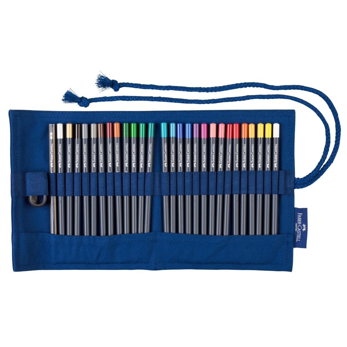 Faber Castell, Goldfarber, 27 stk farveblyanter i penalhus, 2B blyant og spidser