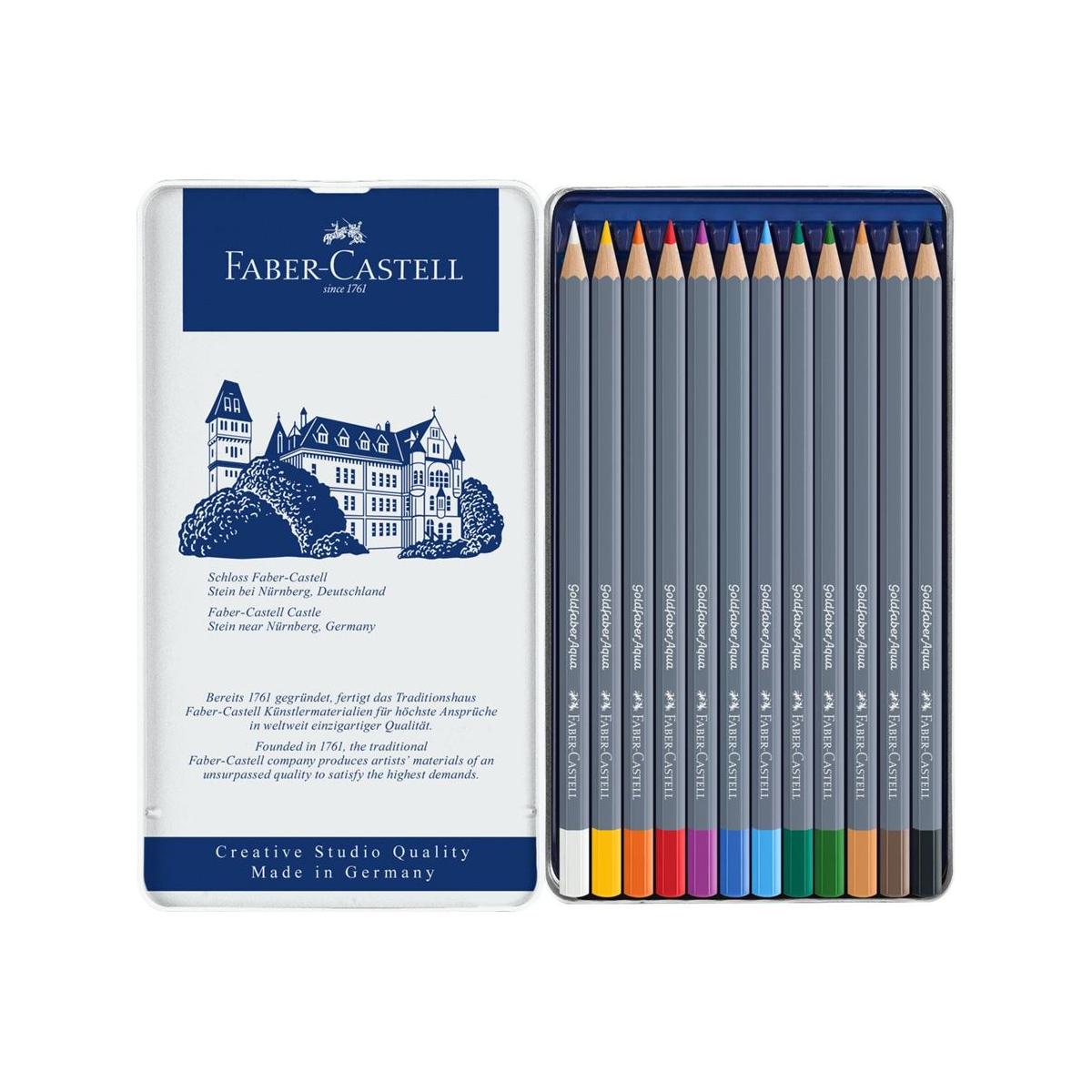 Faber Castell, Farveblyanter, Goldfaber Aqua, sæt, 12 stk