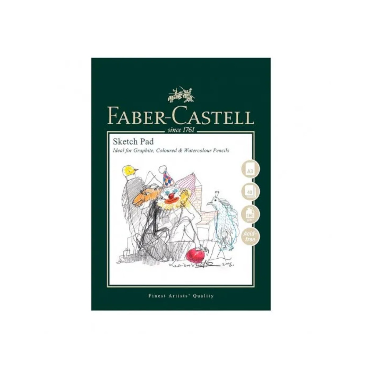 Faber Castell, Sketch Pad, 160 g, 40 ark