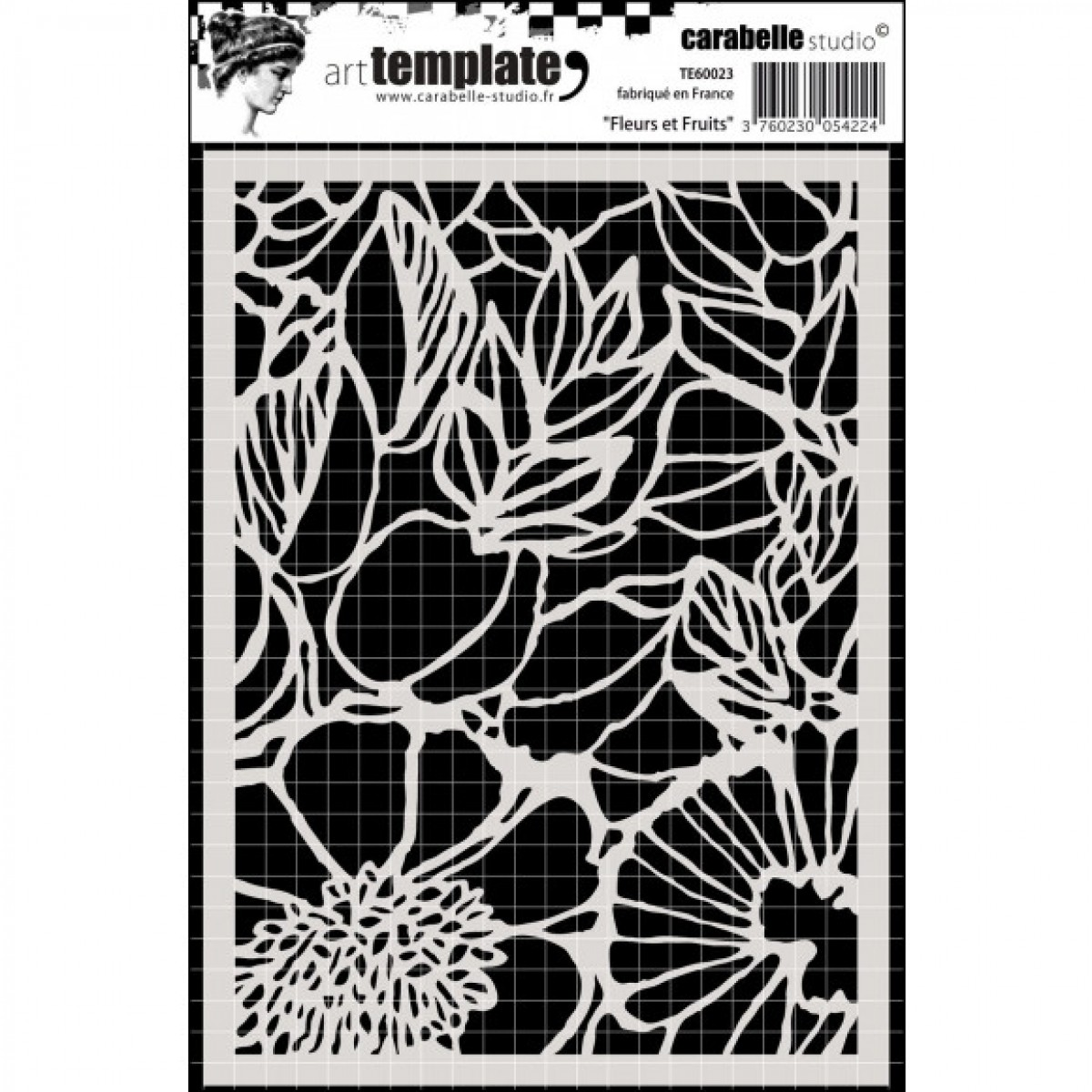 Stencil, 11x15, Fleurs et Fruits