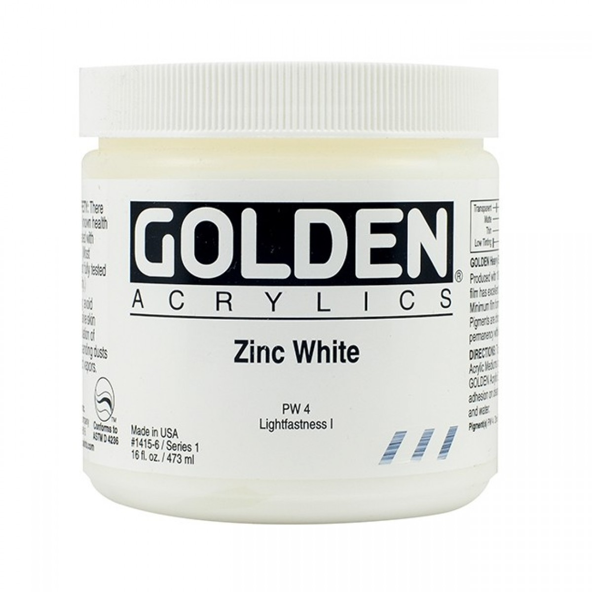 GOLDEN Heavy Body 473 ml. Zinc White