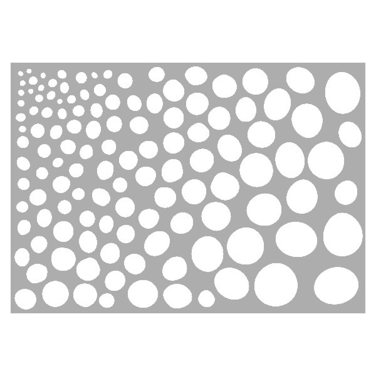 Marabu stencil, A4, Growing Dots