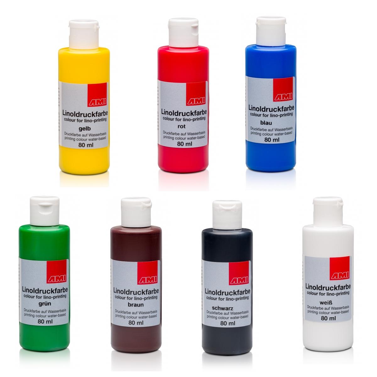 Trykfarve til linoleum, 80 ml
