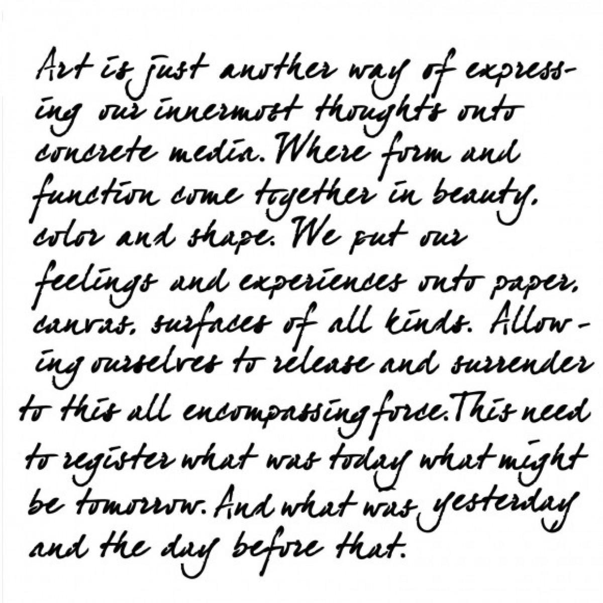TCW, Stencil, 15x15, Mini Art Is