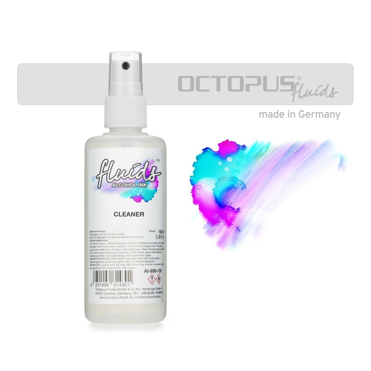 Octopus Fluids, Alcohol Ink Cleaner, 100 ml