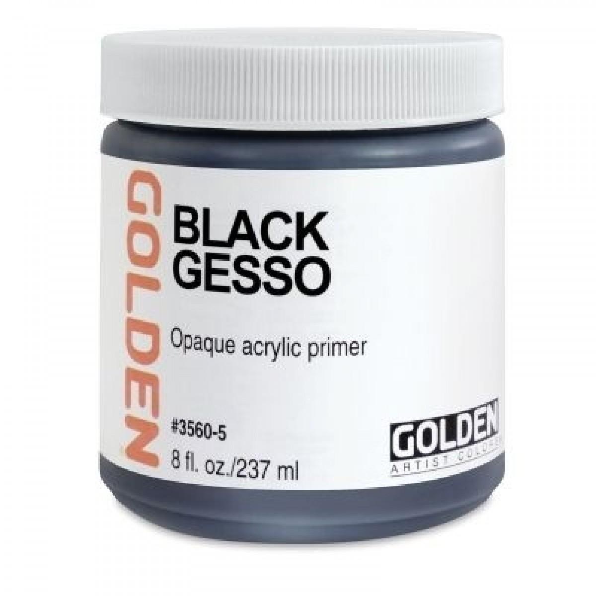 GOLDEN Sort/Black Gesso 237ml.