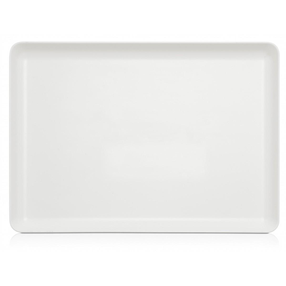 Palette, hvid kunststof, 39,5 x 28 cm., special overflade