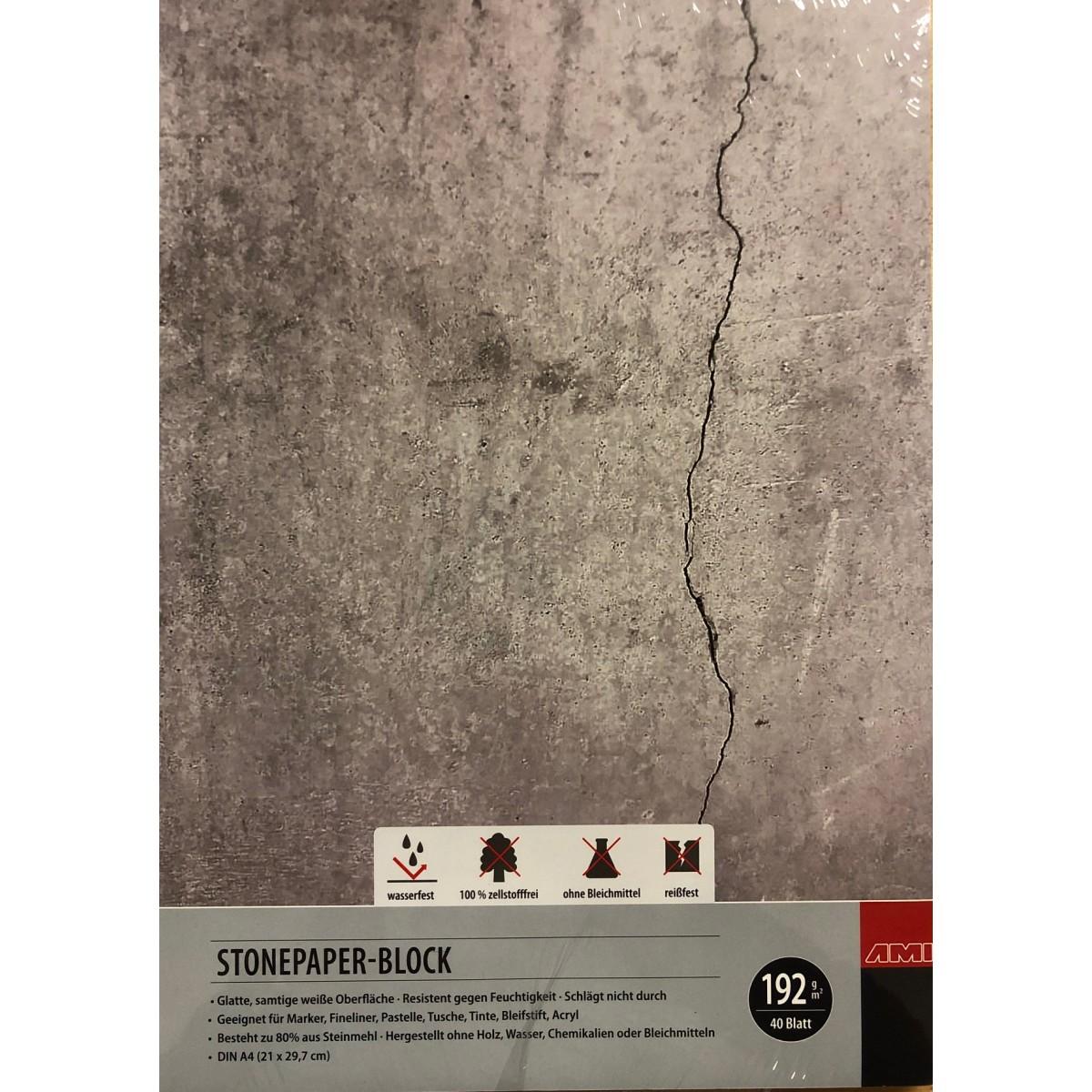 Stonepaper, syntetisk, A3, 40 ark