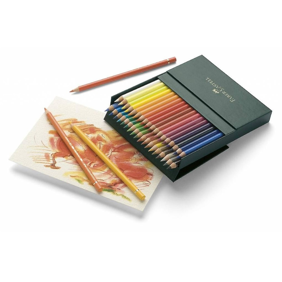 Faber Castell, farveblyanter, Polychromos, 36 stk, studio box