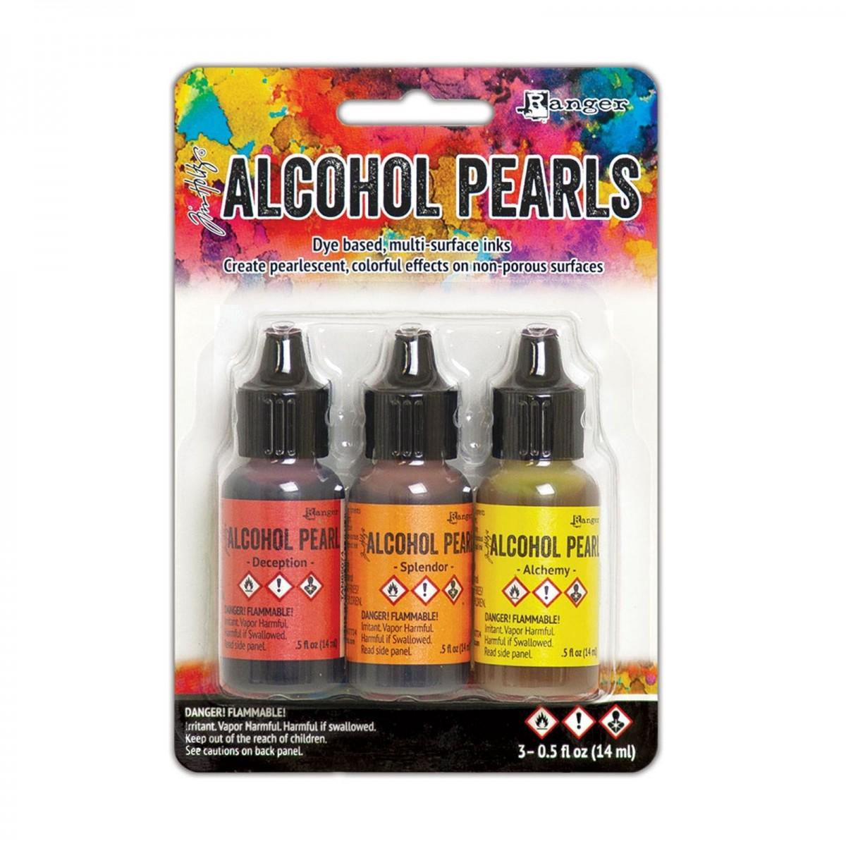 Ranger Alkohol ink Kit, 3 stk., Pearls Kit #1. FAST LAVPRIS