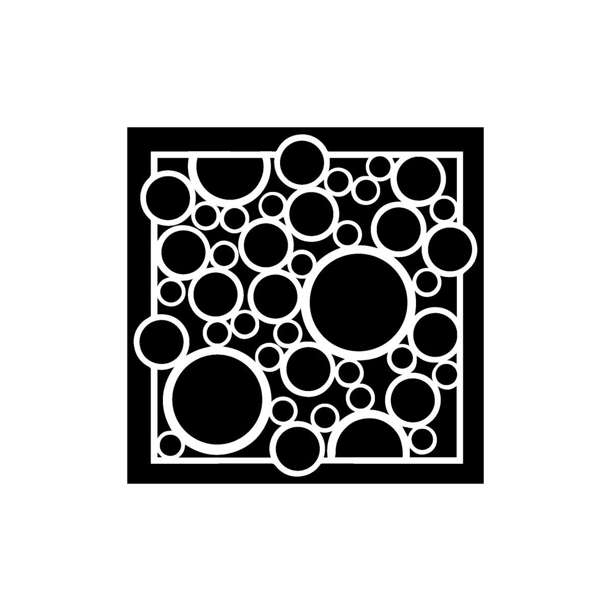 TCW, Stencil, 15x15, Bubble Rebound