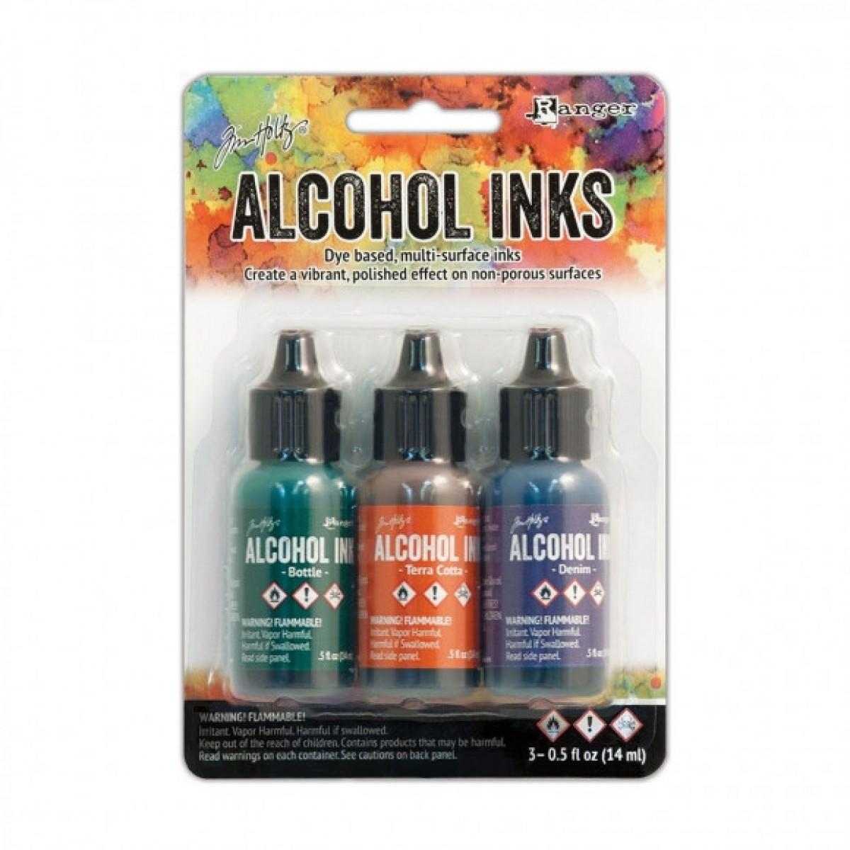 Ranger Alkohol ink Kit, 3 stk., Rustic Lodge. FAST LAVPRIS