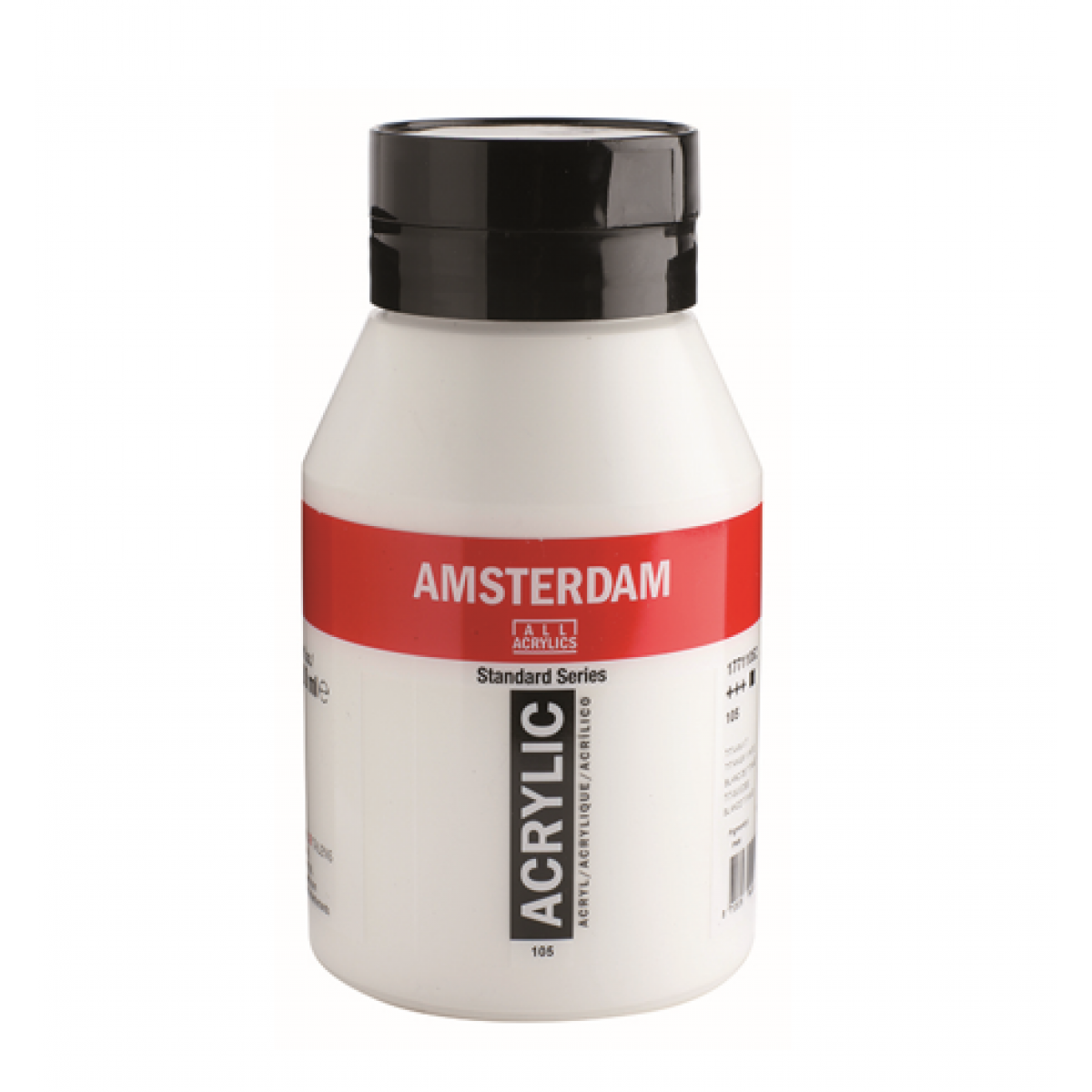 Amsterdam akrylmaling, Titanium white, 1000 ml. FAST LAVPRIS