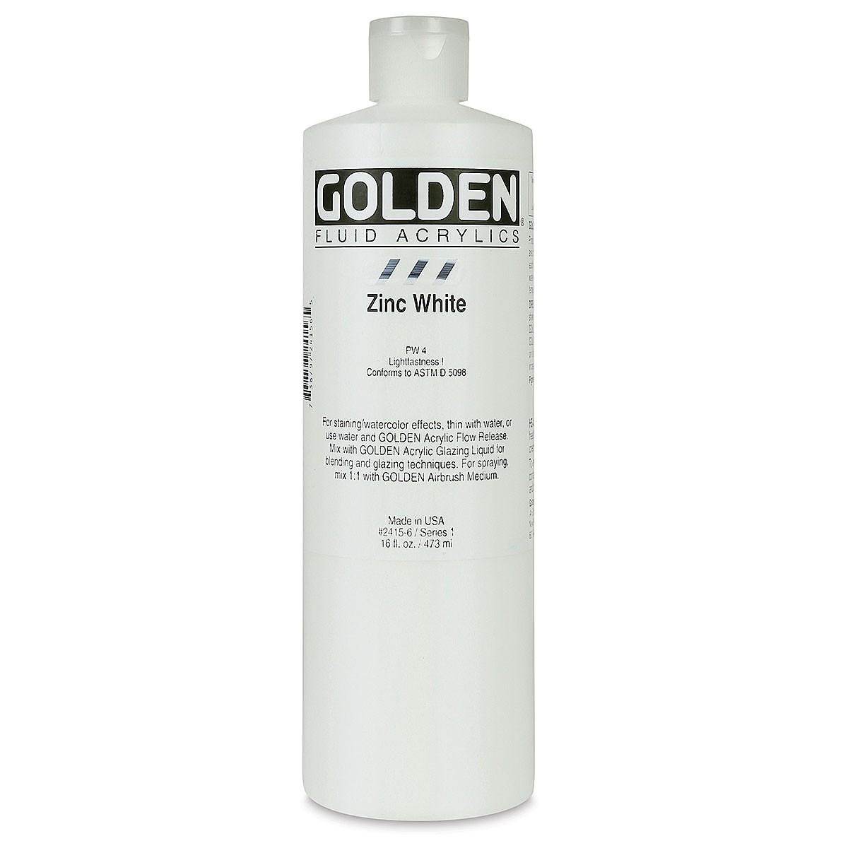 GOLDEN Fluid. Zinc White, 473ml