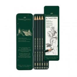 Faber Castell, Grafit blyanter sæt, 6 stk. tin