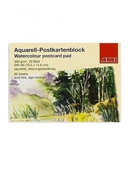 Akvarel postkort blok, A6, 300gr.
