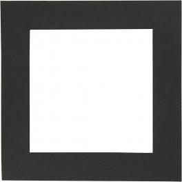 Passepartout ramme, sort, kvadratisk, 25 stk.