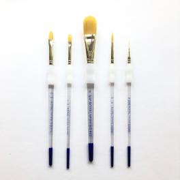 Royal Langnickel, Soft grip pensel, syntetisk, sæt, golden
