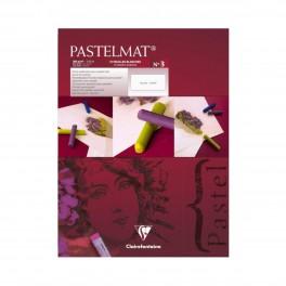 Clairefontaine,Pastelmat pastelpapir, blok, 360g, 12 ark, hvidt