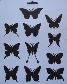 Stencil Sommerfugle