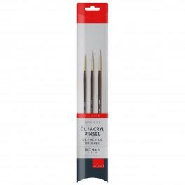 Taklon pensel, syntetisk, sæt, A110-1