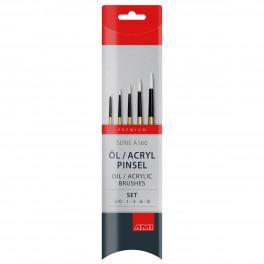 Taklon pensel, syntetisk, sæt, A160