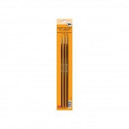 Akvarel pensel, mårhår, sæt, A50