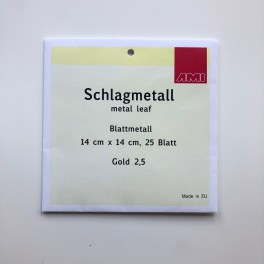 Slagmetal, 14 x 14 cm, 25 ark, 2,5 guld