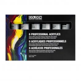 Golden, 6 Professional Acrylics, 6 x 59 ml