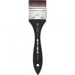 Lak pensel, 50 mm., korte syntetiske børster